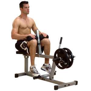 Body-Solid Powerline PSC43X Seated Calf Raise 3D View With Model