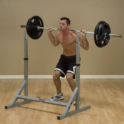 Image of Body-Solid Powerline PSS60X Squat Rack 3D View Squat Figure 1