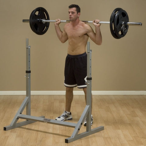 Image of Body-Solid Powerline PSS60X Squat Rack 3D View Squat Figure 4