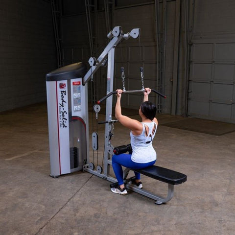 Image of Body-Solid ProClub S2LAT Series II Lat Pull Seated Row Exercise Figure 1