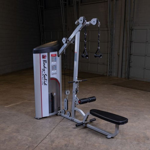 Image of Body-Solid ProClub S2LAT Series II Lat Pull Seated Row Top Front Side View