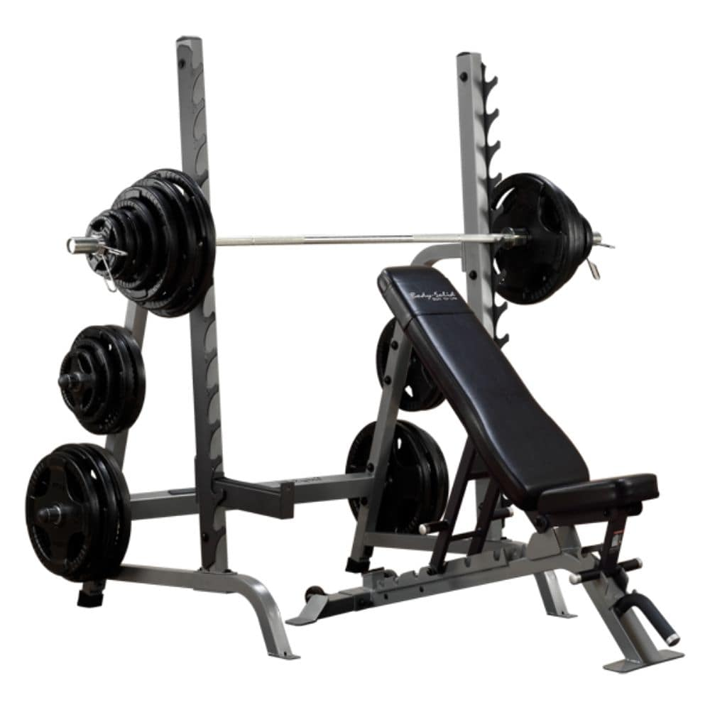 Body-Solid ProClub SDIB370 Bench Rack Combo 3D View