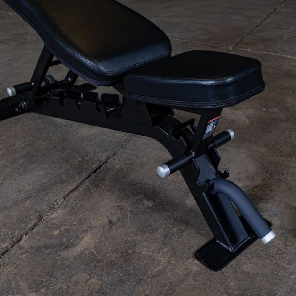 Body-Solid ProClub SFID325B Adjustable FID Bench Front Side View Close Up