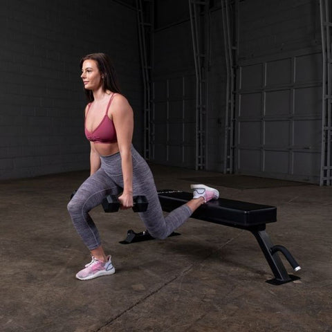 Body-Solid Pro Clubline SFB125 Flat Bench Exercise Knee Bend