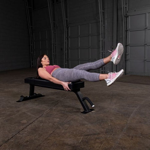 Body-Solid Pro Clubline SFB125 Flat Bench Exercise Leg Extension