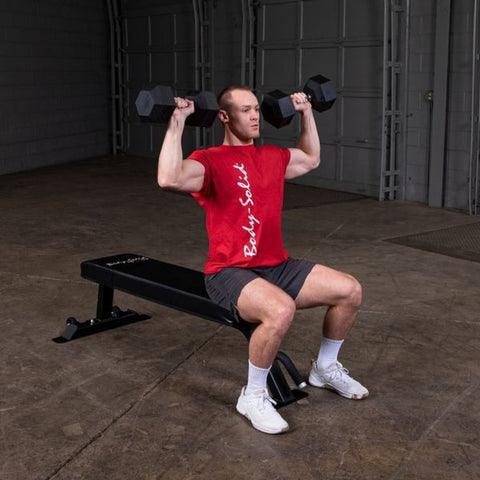 Body-Solid Pro Clubline SFB125 Flat Bench Exercise Sitting Shoulder Press
