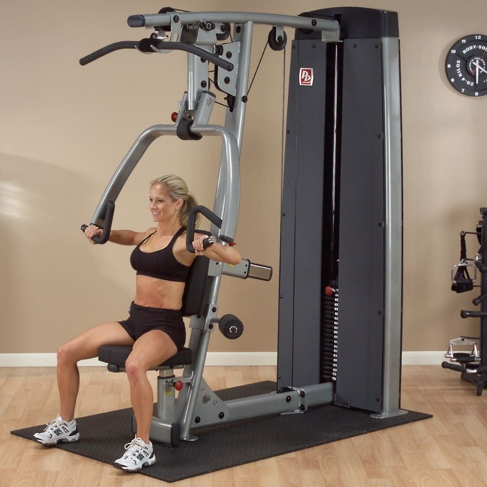 Body-Solid Pro Dual DPLS-SF Commercial Vertical Press and Lat Station Shoulder Press