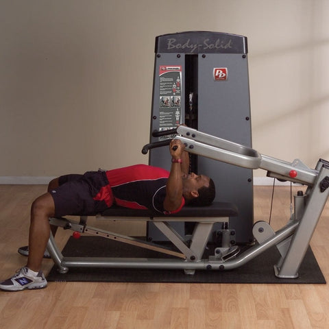 Image of Body-Solid Pro Dual DPRS-SF Commercial Chest and Shoulder Multi Press Flat Bench