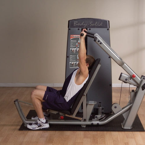 Image of Body-Solid Pro Dual DPRS-SF Commercial Chest and Shoulder Multi Press Side View
