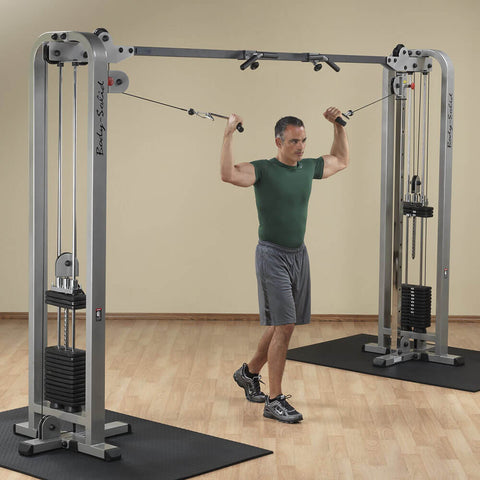 Body-Solid SCC1200G ProClub Cable Crossover Double High Pull Curl