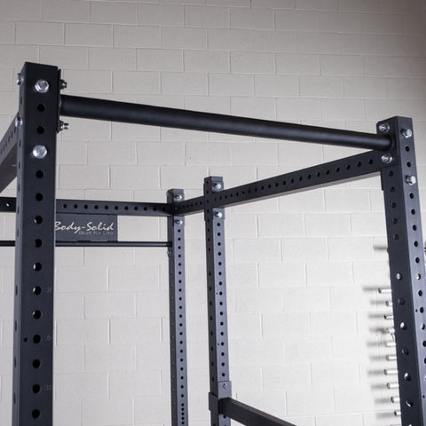 Body-Solid SPR1000BACKP4 Extended Power Rack Gym Package Fat Chin Up Bar