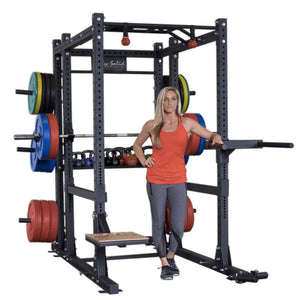 Body-Solid SPR1000BACKP4 Extended Power Rack Gym Package Front View