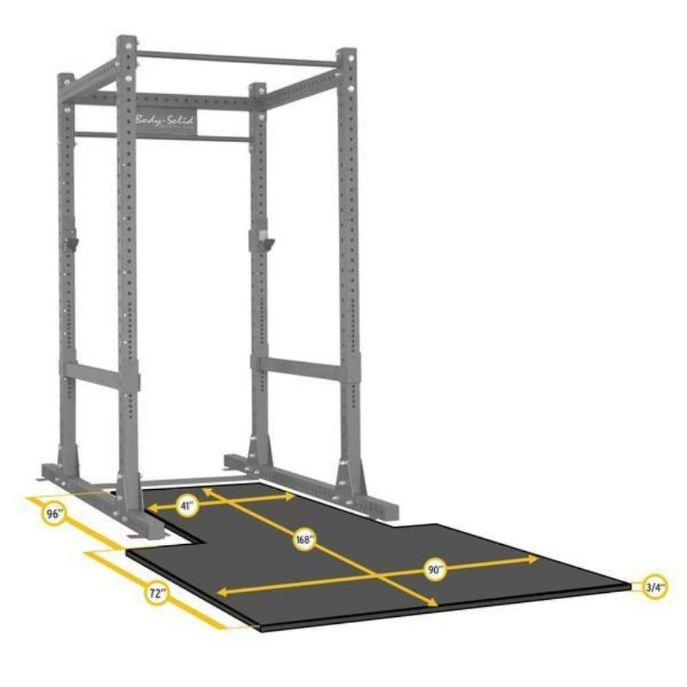 Body-Solid SPRPLATFORM Power Rack Floor Mat Dimension