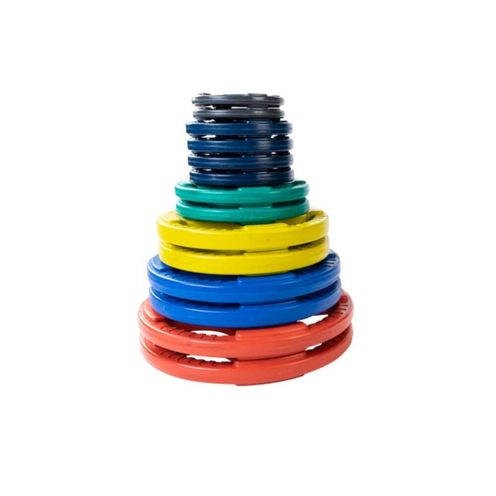 Body-Solid Colored Rubber Grip Plate Set ORCT 255 lbs Set
