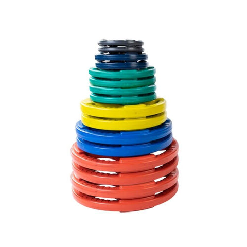 Body-Solid Colored Rubber Grip Plate Set ORCT 355 lbs Set