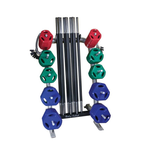 Body-Solid GCR100 Cardio Weight Rack Front View