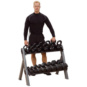 Body-Solid GDKR100 Dumbbell_Kettlebell Rack 3D View