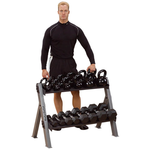 Image of Body-Solid GDKR100 Dumbbell_Kettlebell Rack 3D View
