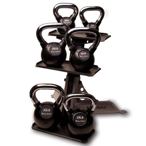 Image of Body-Solid GDKR50 Compact Kettlebell Rack 3D View