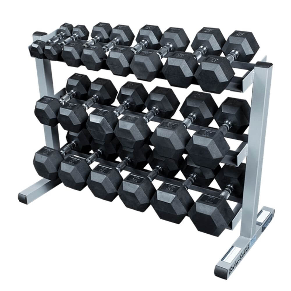 Body-Solid GDR363 3 Tier Dumbbell Rack Black Dumbbells