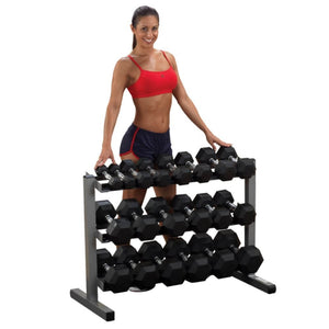 Body-Solid GDR363 3 Tier Dumbbell Rack Front View