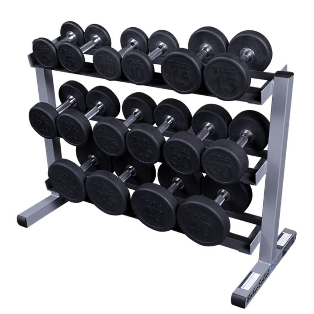 Body-Solid GDR363 3 Tier Dumbbell Rack With Dumbbells