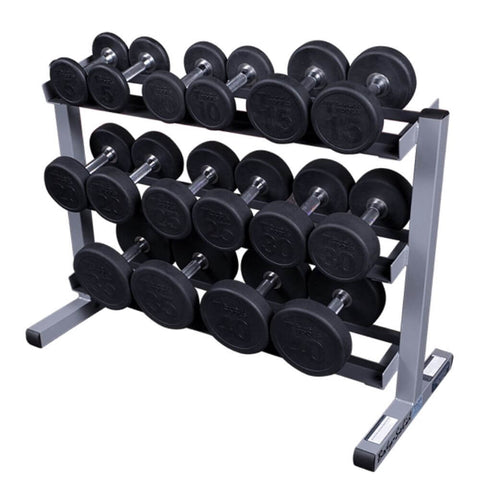 Image of Body-Solid GDR363 3 Tier Dumbbell Rack With Dumbbells