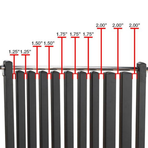 Image of Body-Solid GDR500 Commercial Dumbbell Rack Gap Sizes