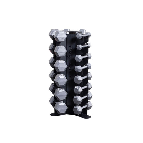 Image of Body-Solid GDR80 Vertical Dumbbell Rack With Hex Dumbbells