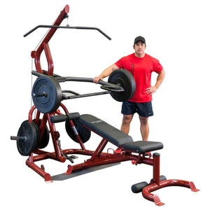 Body-Solid GLGS100P4 Corner Leverage Gym Package Full View