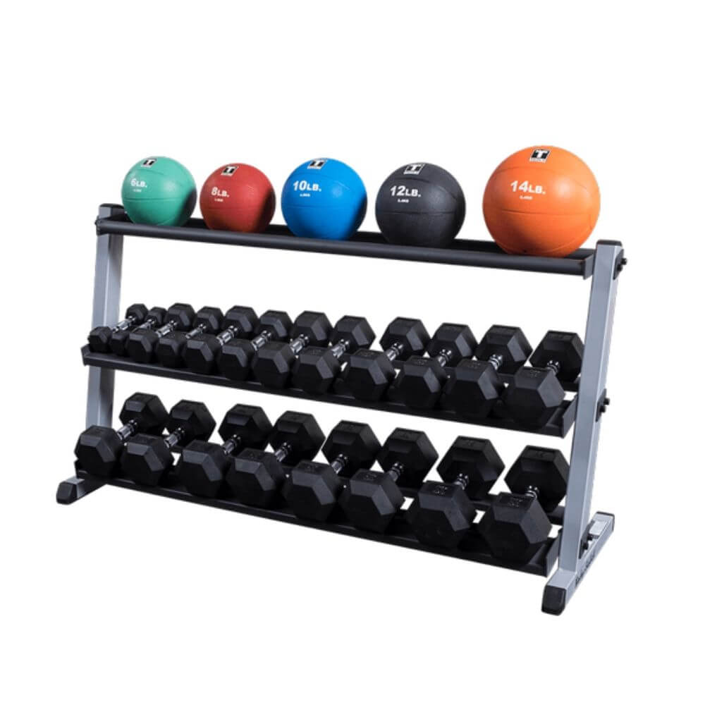 Body-Solid GMRT6 Optional Medicine Ball Shelf for GDR60 With Medicine Balls