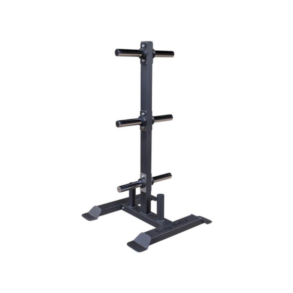Body-Solid GWT56 Olympic Weight Tree and Bar Holder 3D View