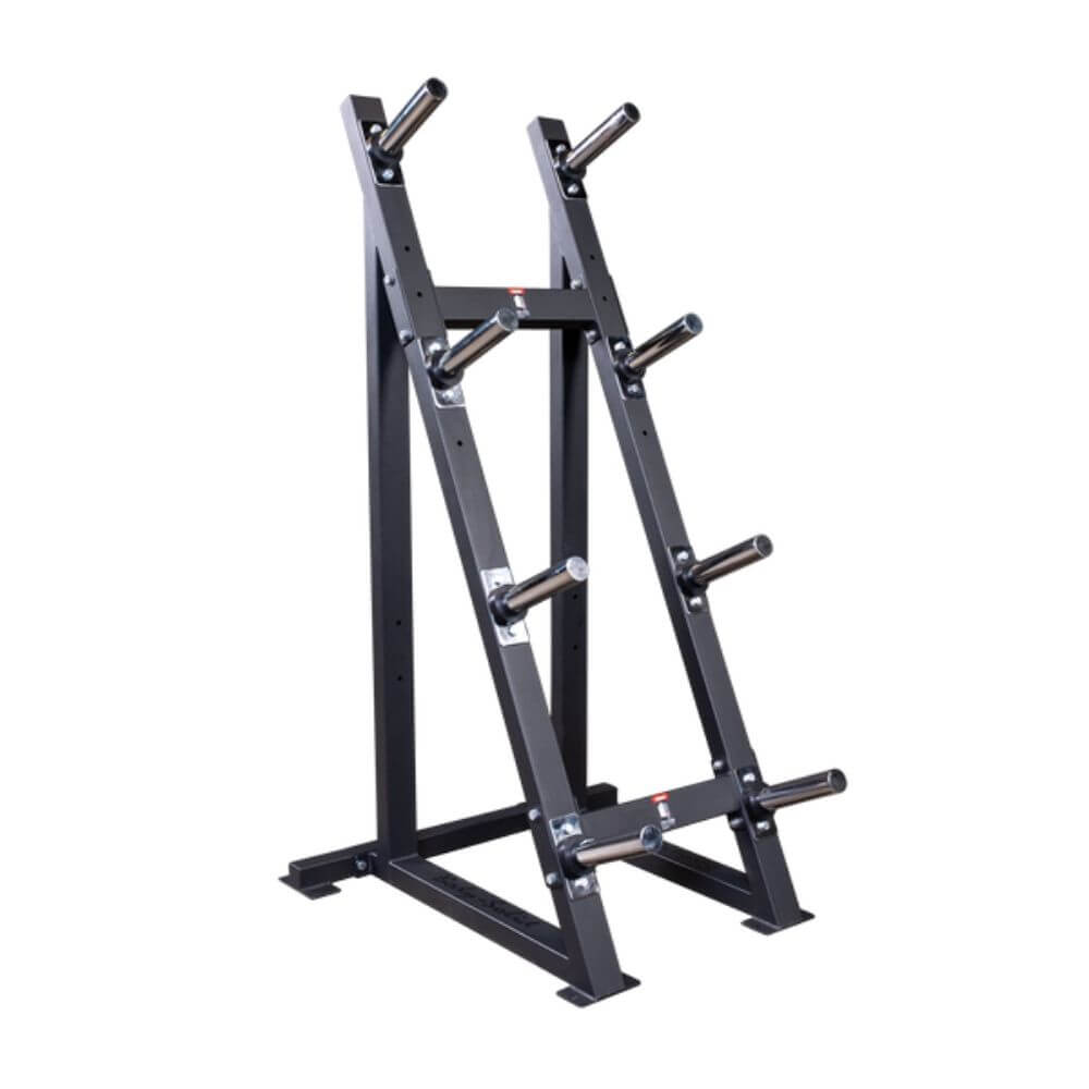 Body-Solid GWT76 Capacity Olympic Weight Tree 4 Tier 3D View