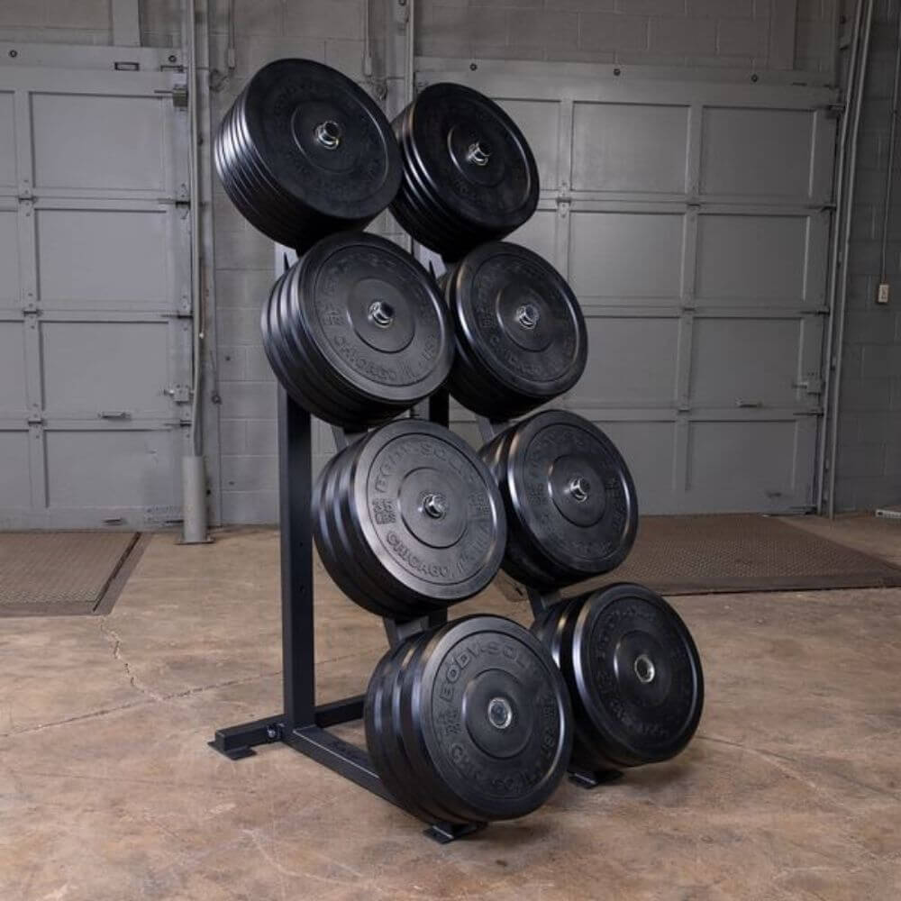 Body-Solid GWT76 Capacity Olympic Weight Tree 4 Tier Colored Plates
