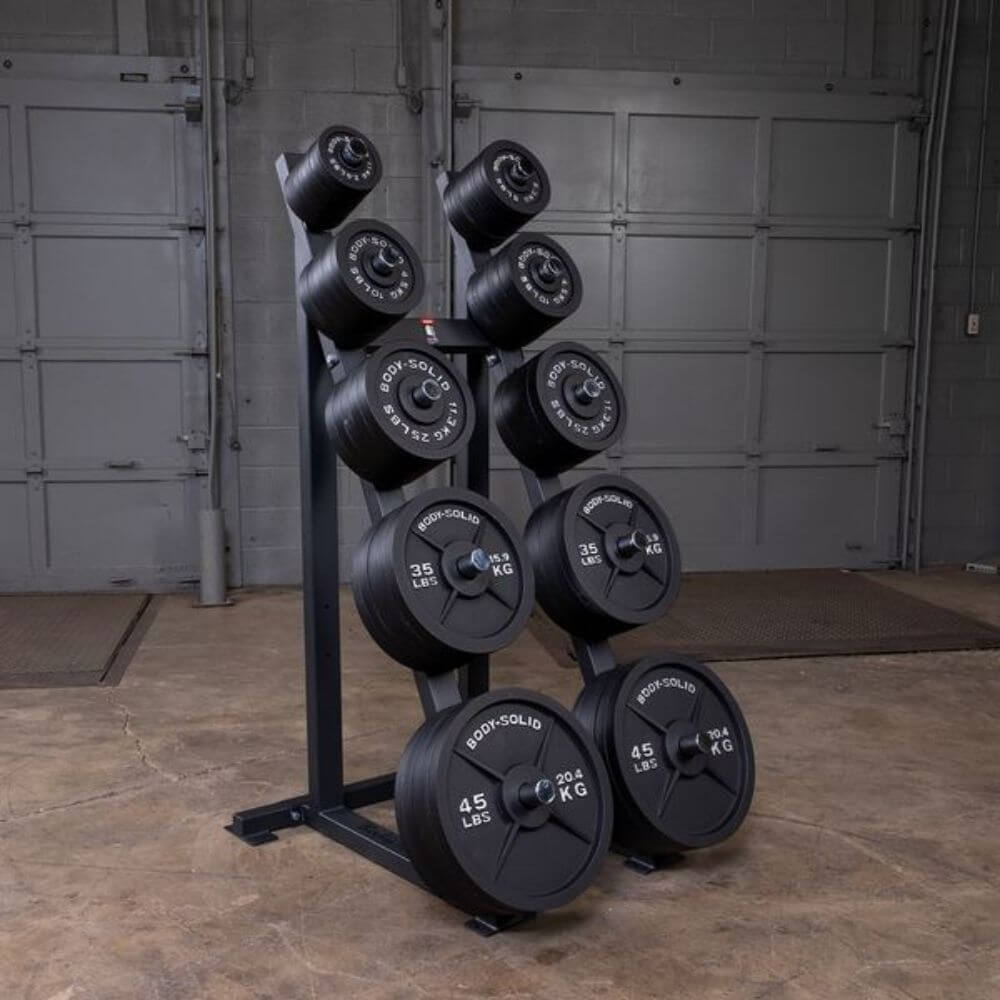 Body-Solid GWT76 Capacity Olympic Weight Tree 5 Tier Plates
