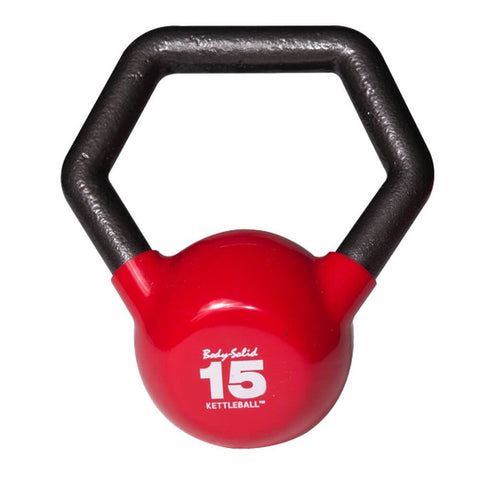 Image of Body-Solid KBL Vinyl Dipped Kettlebells 15LBS