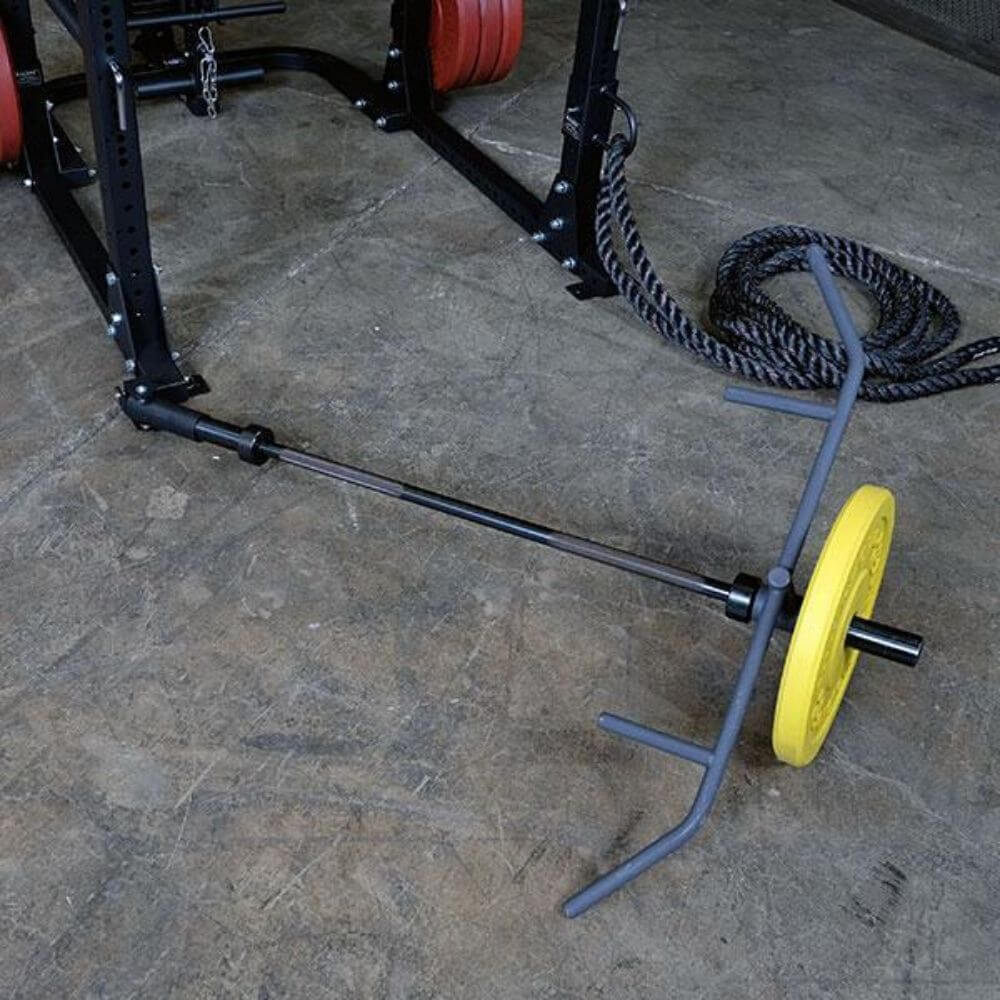 Body-Solid Landmine T-Bar Row Attachment GPRTBR Top View With Plate