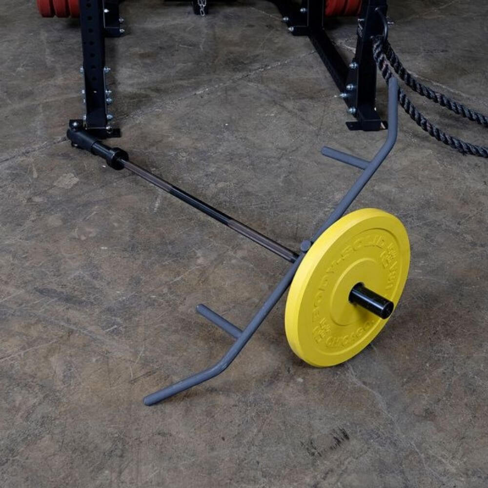 Body-Solid Landmine T-Bar Row Attachment GPRTBR Top View With Plate Closer View