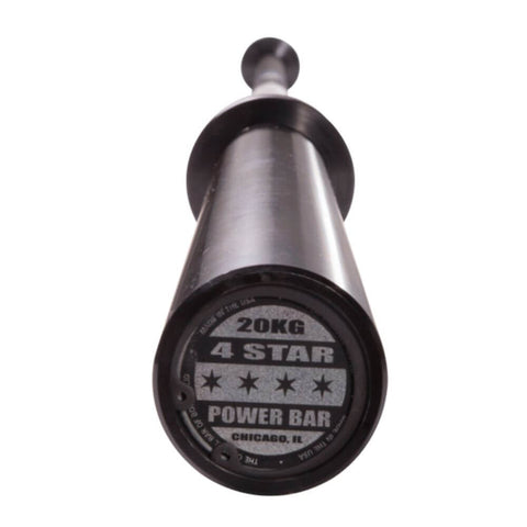 Body-Solid OB864STAR 7' Black 4-Star Olympic Power Bar End