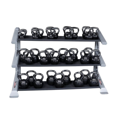 Body-Solid ProClub SDKR1000KB 3 Tier Kettlebell Rack With KBC Kettlebell