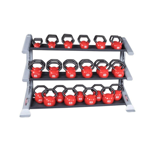 Image of Body-Solid ProClub SDKR1000KB 3 Tier Kettlebell Rack With KBL Kettlebell