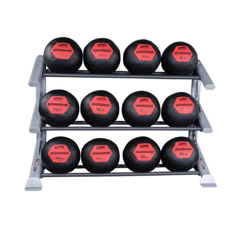 Image of Body-Solid ProClub SDKR1000MB 3 Tier Medicine Ball Rack With Medicine Balls