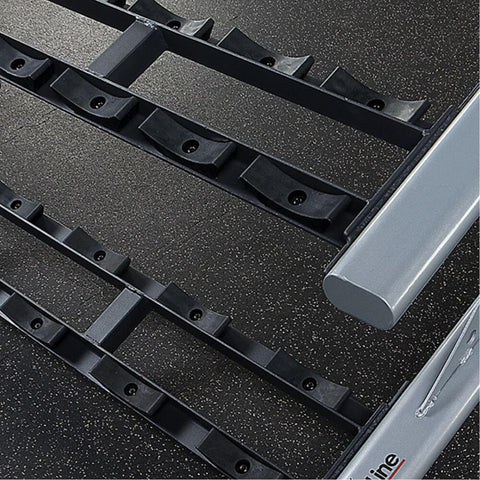 Body-Solid ProClub SDKR1000SD 3 Tier Saddle Dumbbell Rack Close Up