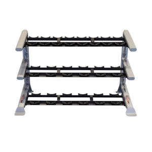 Body-Solid ProClub SDKR1000SD 3 Tier Saddle Dumbbell Rack Front View