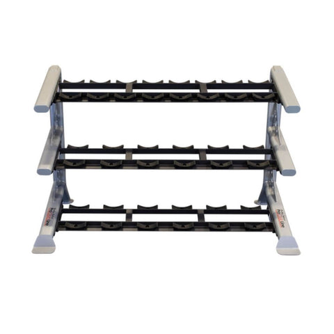 Image of Body-Solid ProClub SDKR1000SD 3 Tier Saddle Dumbbell Rack Front View