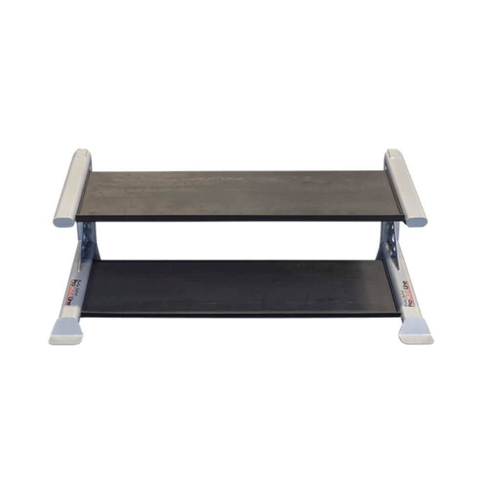 Body-Solid ProClub SDKR500DB 2 Tier Dumbbell Rack Top Front View