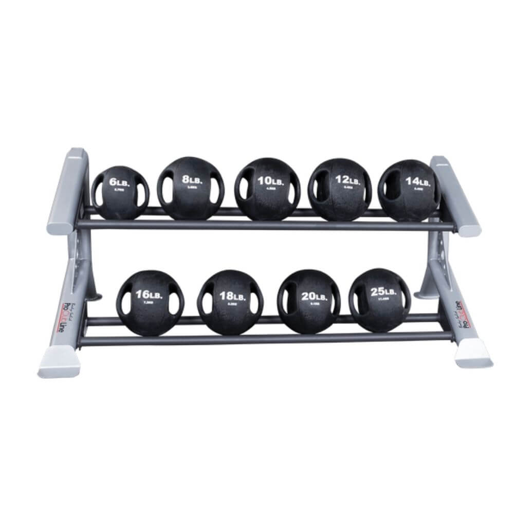 Body-Solid ProClub SDKR500MB 2 Tier Medicine Ball Rack With Dual Grip