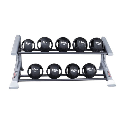 Image of Body-Solid ProClub SDKR500MB 2 Tier Medicine Ball Rack With Dual Grip