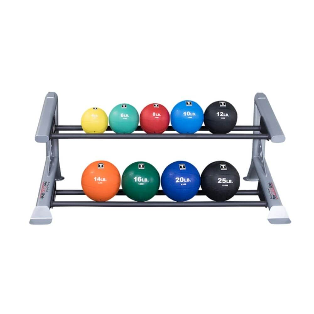 Body-Solid ProClub SDKR500MB 2 Tier Medicine Ball Rack With Medicine Balls