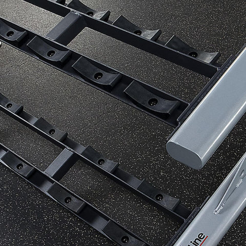 Body-Solid ProClub SDKR500SD 2 Tier Saddle Dumbbell Rack Close Up View